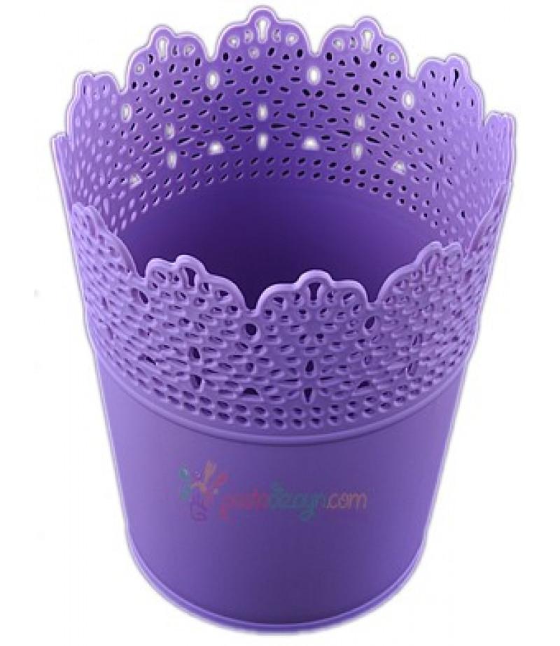 Mor Renk Plastik Sunum Kovası