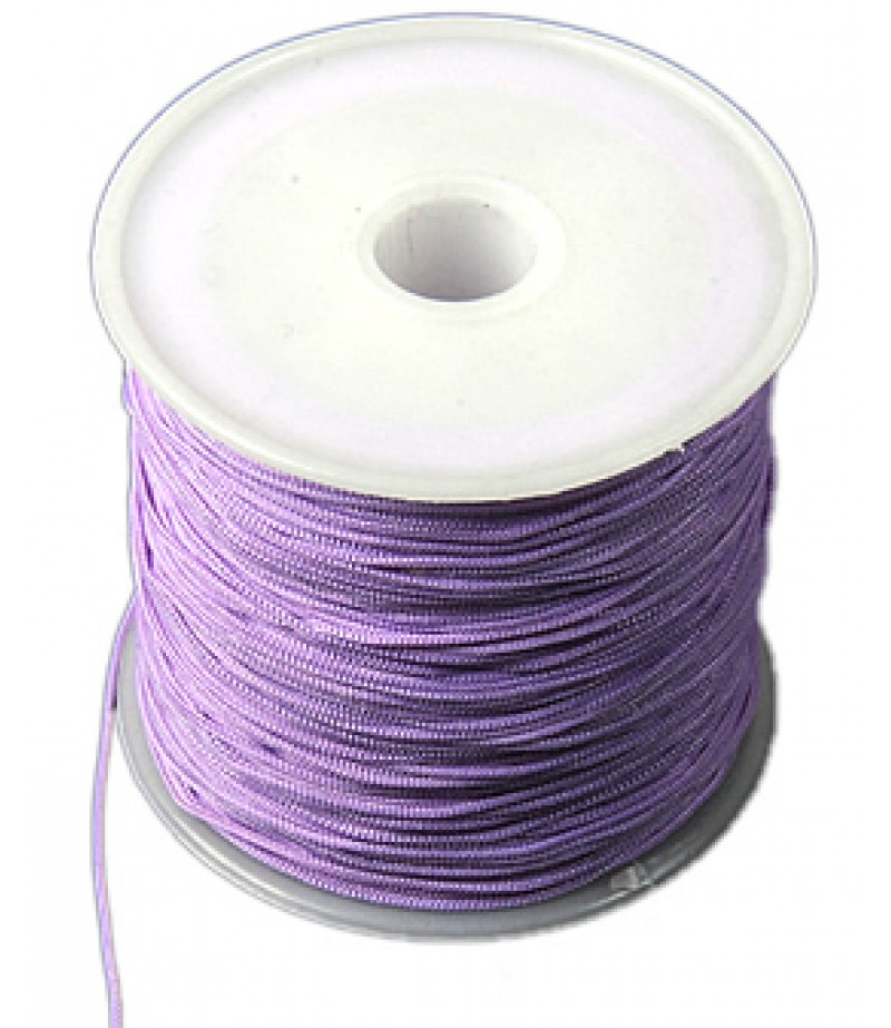 Polyester Lila Renk Bileklik İpi