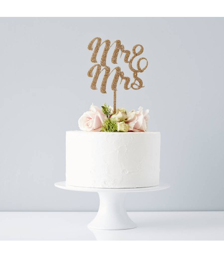 Mr. & Ms. Cake Topper