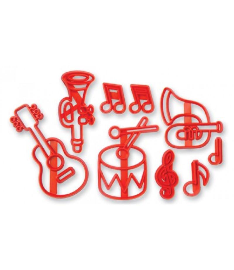 Müzik Aletleri Figürlü Patchwork