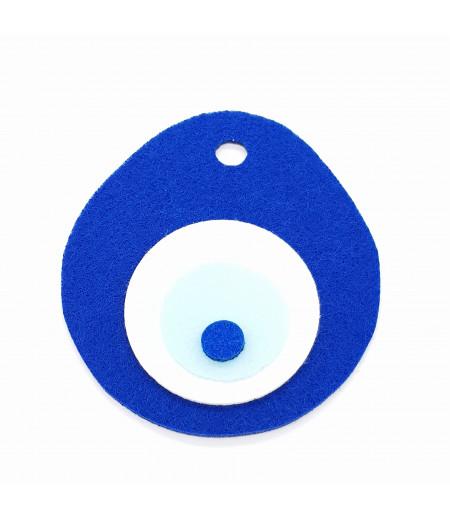 Nazar Boncuğu Küçük Dekor Keçe Süsleme Mavi