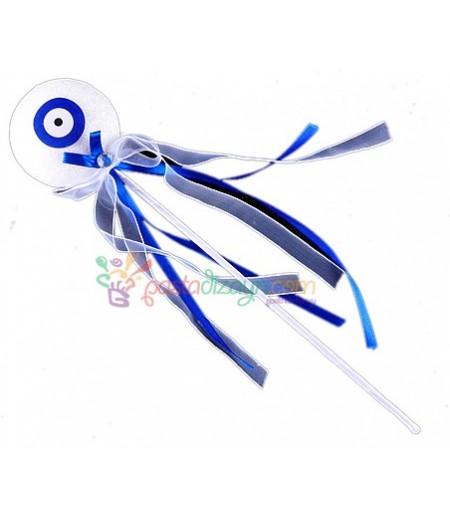 Mavi Nazar Boncuklu Çubuklar,6 adet