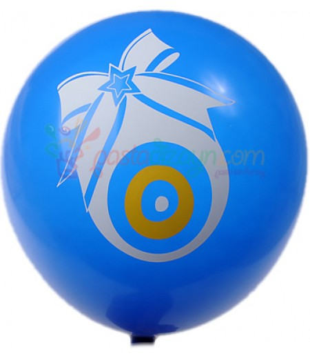 Mavi Renk,Nazar Boncuklu Balon Seti,12 Adet