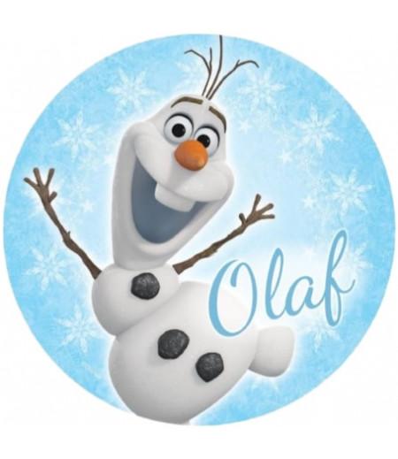 Olaf Yuvarlak Gofret Kağıdı İle Baskı