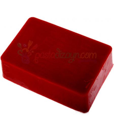 Opak Kırmızı Renk Sabun Bazı,1Kg
