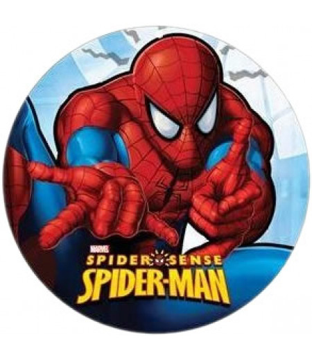 Örümcek Adam Yuvarlak Gofret Kağıdı İle Baskı
