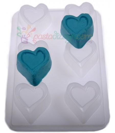 Plastik Özel Kalpler Çikolata,Sabun Kalıpları