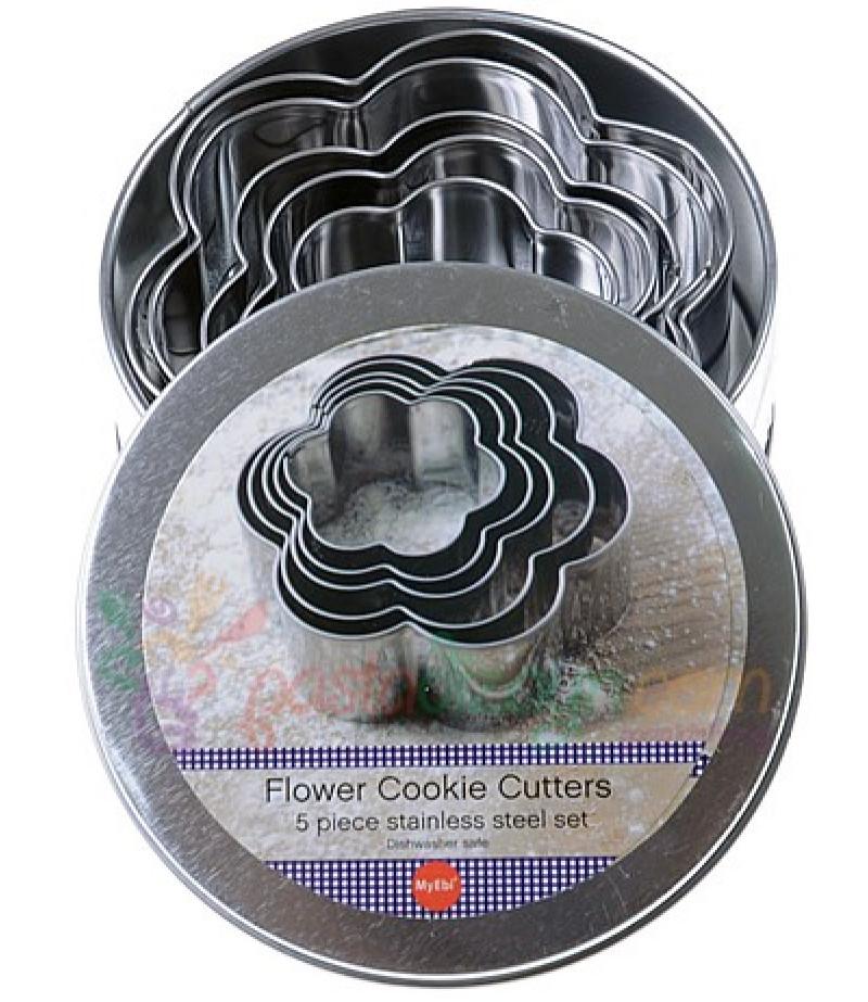 Papatya Şekilli Kurabiye Kalıpları,3-10cm