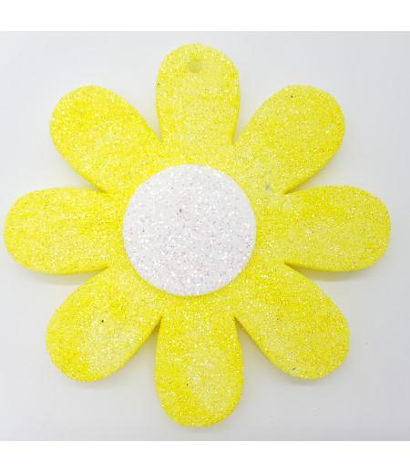 Papatya Simli Strafor Asma Süsleme Sarı