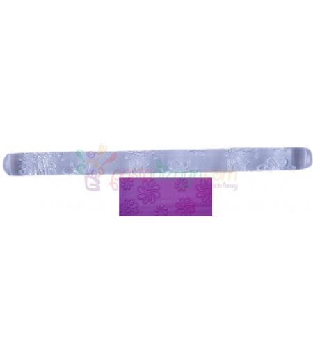 Papatya Temalı Kalem Merdane,16.5 cm