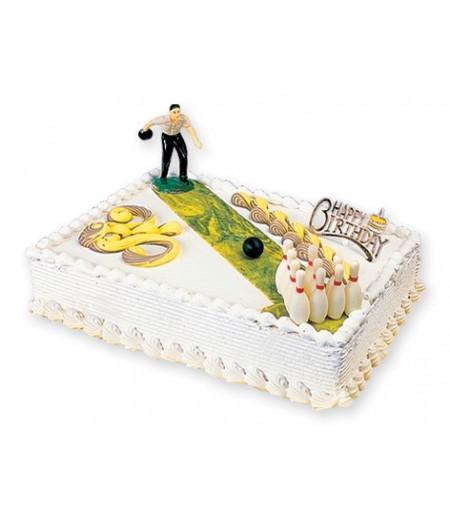 Bowling Pasta üstü Süslemesi (Oyuncu,Labutlar,Top)