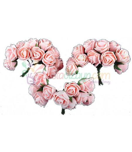 Pembe Güller Süsleme Cicekleri,2 Demet