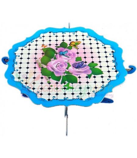 Mavi Renk Güller Temalı Kek Standı