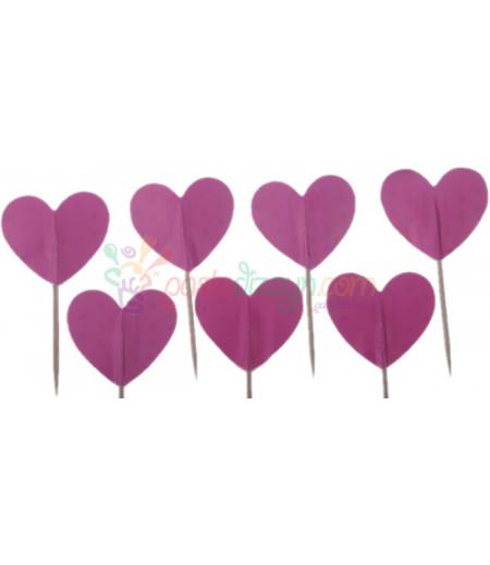 Pembe Renk Kalpli Kürdanlar,10 Adet