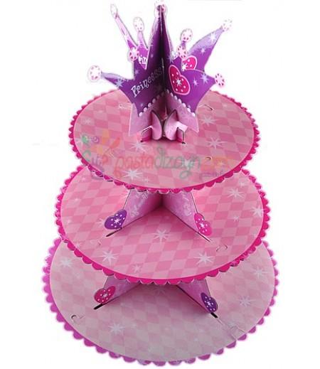 Pembe Renk Prenses Temalı Kek Standı