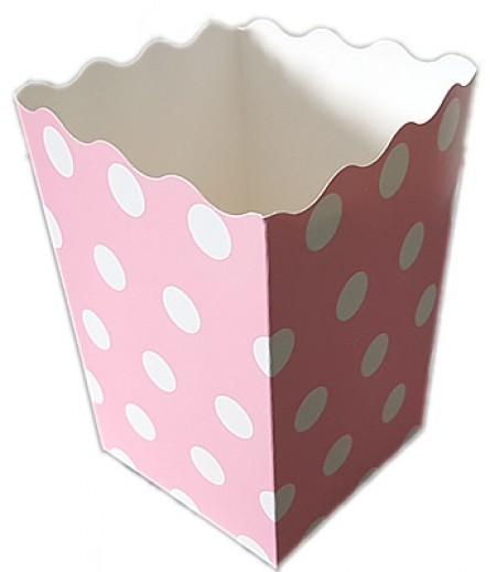 Pembe Renk Popcorn Kovası,10 lu