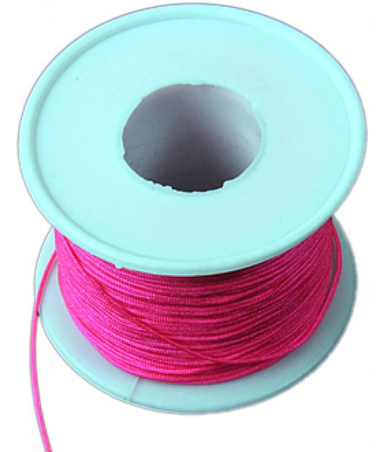 Polyester Pembe Renk Bileklik İpi
