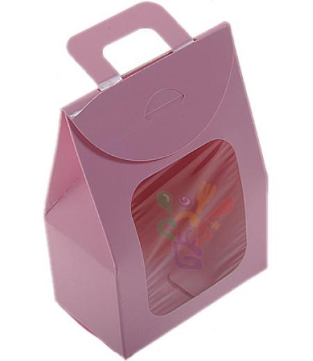 Pembe Renk,Saplı Çantalar,7x11,5 Adet