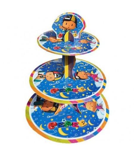 Pepe Görselli 3 Katlı Kek Standı