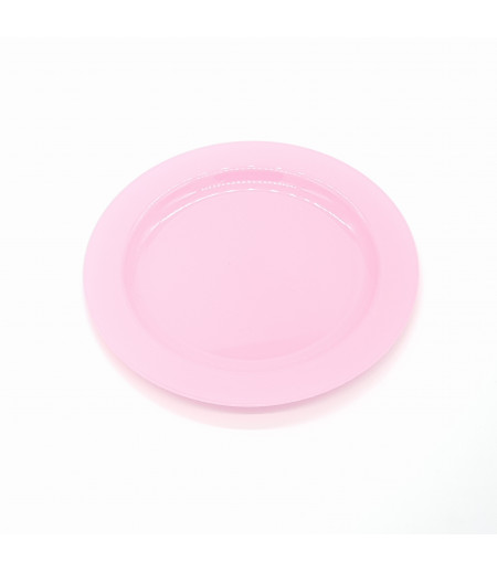 Plastik Tabak 10 lu Pembe 19 cm