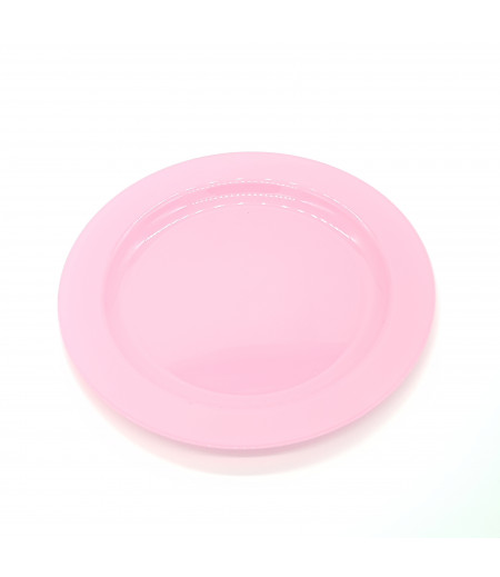 Plastik Tabak 10 lu Pembe 23 cm