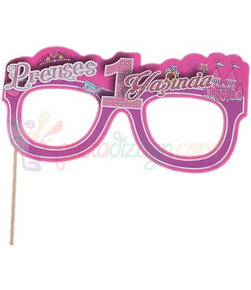 Prenses 1 Yaşında Temalı Karton Gözlük