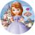 Prenses Sofia Yuvarlak Gofret Kağıdı İle Baskı