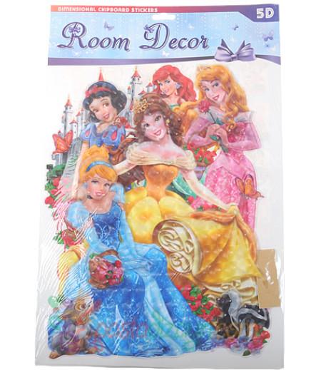 Prensesler 5 Boyutlu Duvar,Kapı Süsü