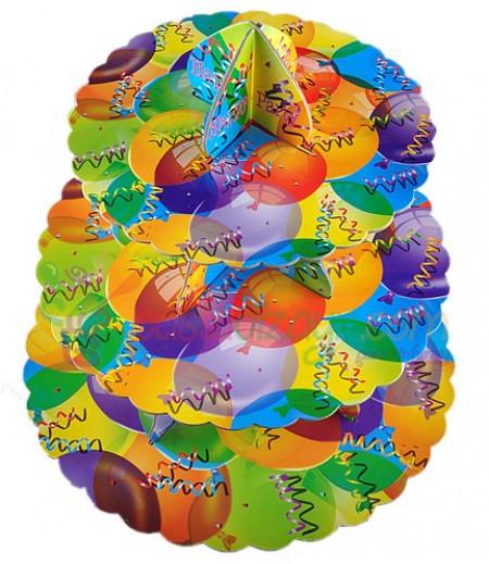 Renkli Balonlar Temalı Kek Standı