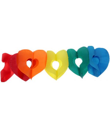 Renkli Kalpli Uzun Asma Süslemesi