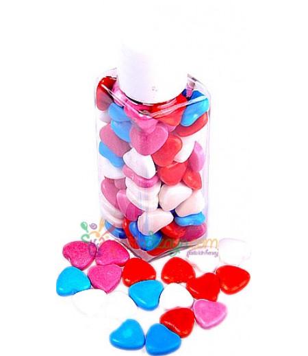 Renkli Kalpli Yenilebilir Drajeler,30gr