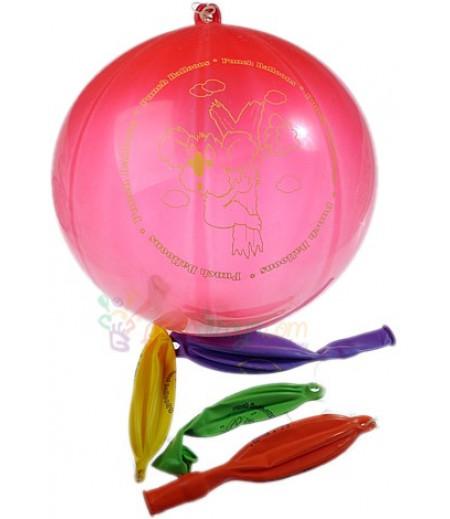 Renkli Punch Balon Seti,12 Adet