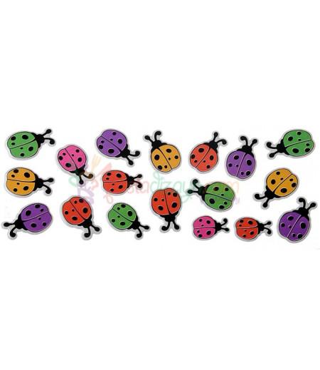Renkli Uğur Böceği Figürlü Süslemeler