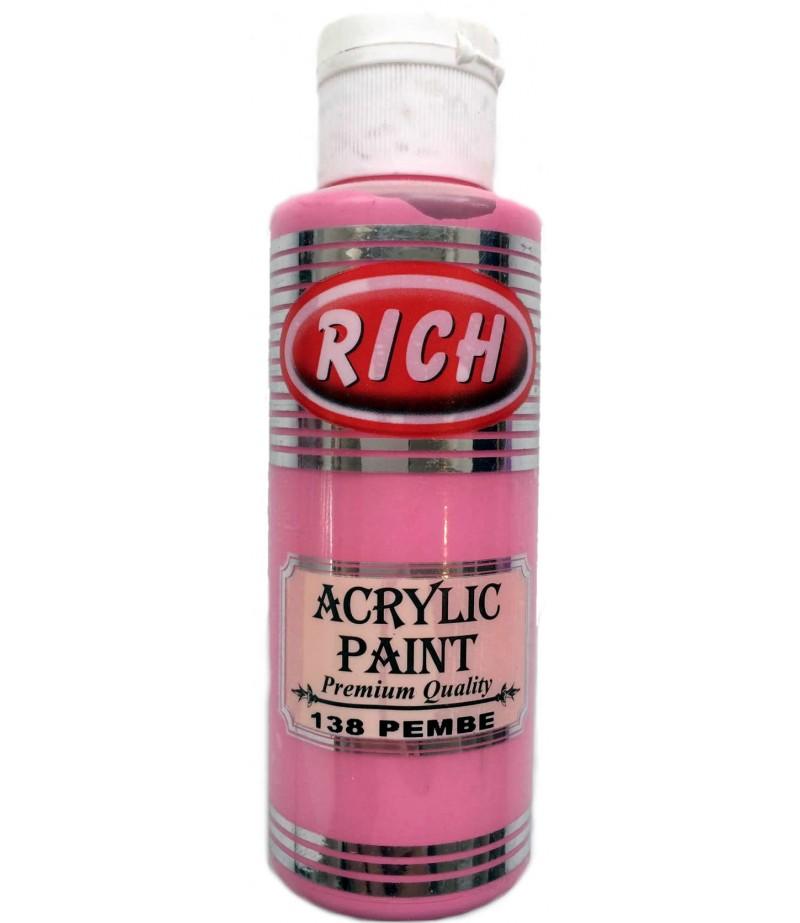 Pembe Renk Akrilik Kokulu Taş Boyası,130ml
