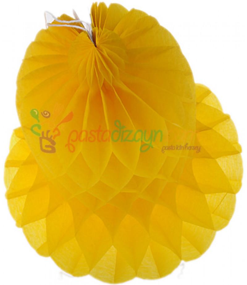 Sarı Renk Çan Şeklinde Petek Fener,30cm