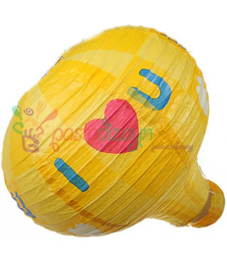 Sarı Renk Balon Avize Büyük Parti Feneri