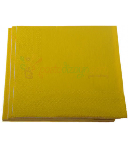 Sarı Renk Kağıt  Peçeteler,20 Adet