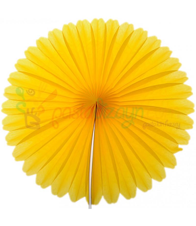 Sarı Renk Küçük Yelpaze Parti Feneri