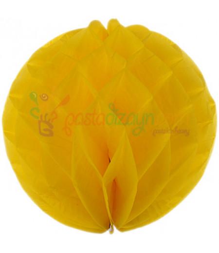 Sarı Renk Petek Parti Süslemesi,30cm