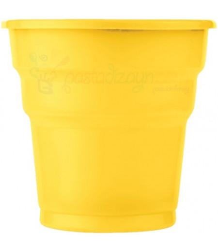 Sarı Renk Plastik Bardaklar,25 adet
