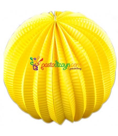 Sarı Renk Yuvarlak Parti Feneri