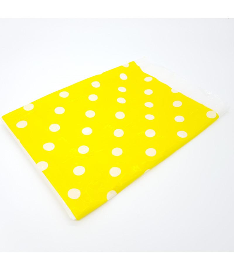 Sarı, Beyaz Puantiyeli Masa Örtüsü