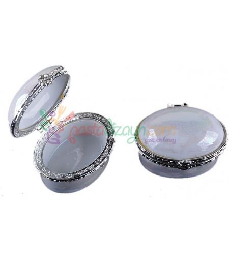 Sedefli Oval Mini Porselen Şekerlik,Adet