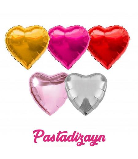 Sevgililer Gününe Özel Renkli Kalp Folyo Balonlar  -1 adet