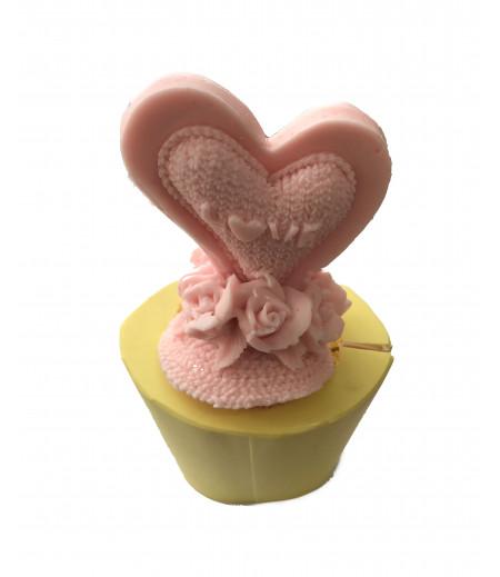 Silikon 3 Boyutlu Kalp Love Yazılı Sabun Mum Kokulu Taş Kalıbı