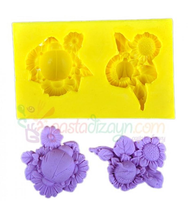 Silikon Çiçek ve Uğur Böceği Kalıbı