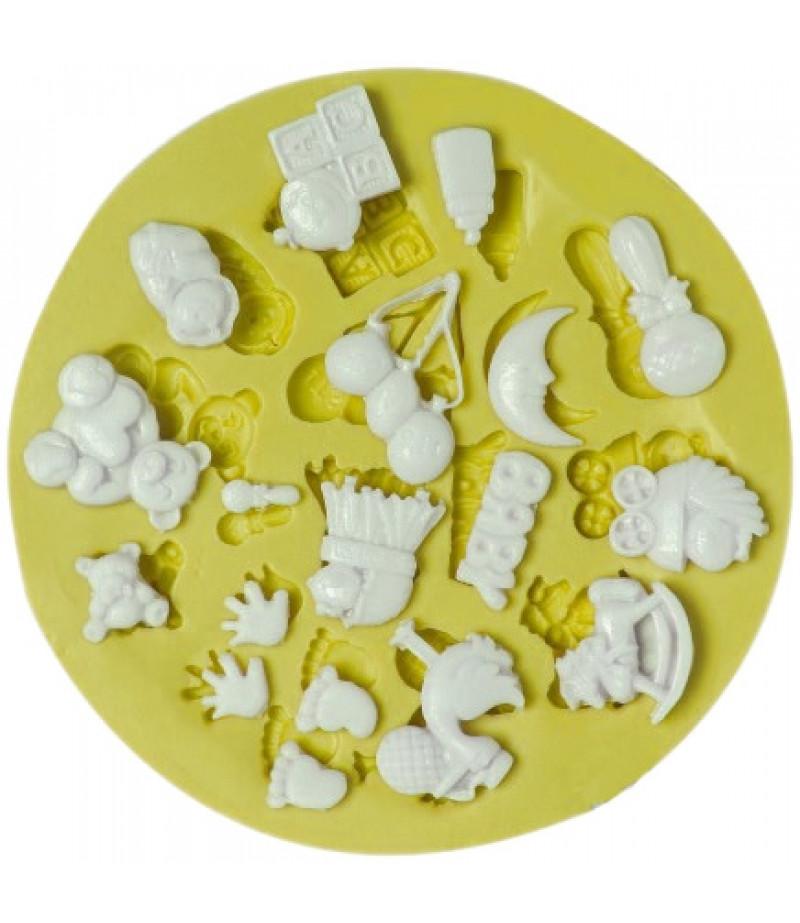 Silikon Sirin Figurler Kaliplari 2 4cm Sabun Kokulu Tas Mum Kaliplari