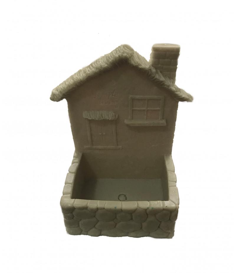 Silikon Balkonlu Ev Çikolata,Sabun, Kokulu Taş Kalıbı