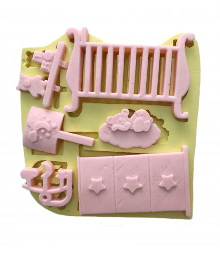 Silikon Bebek Odası Gereçleri Kalıbı - ço122