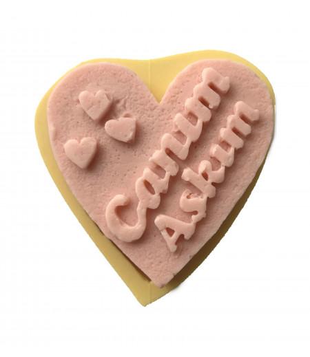 Silikon Canım Aşkım Yazılı Kalp Sabun Mum Kokulu Taş Kalıbı